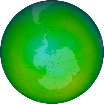 Antarctic ozone map for 2012-11