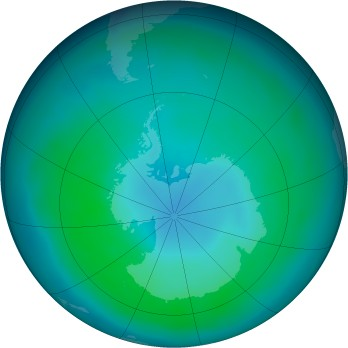 Antarctic ozone map for 2013-03