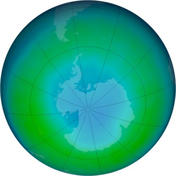 Antarctic ozone map for 2013-05