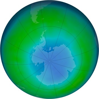 Antarctic ozone map for 2013-06