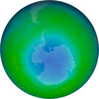Antarctic ozone map for 2013-07