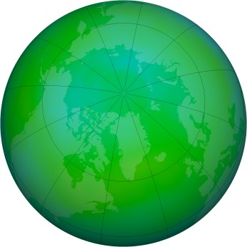 Arctic ozone map for 2013-08