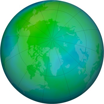 Arctic ozone map for 2013-10