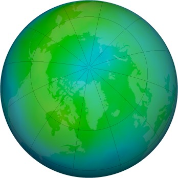 Arctic ozone map for 2013-11