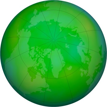 Arctic ozone map for 2014-07