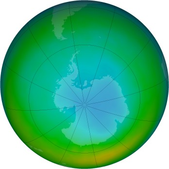 Antarctic ozone map for 2014-07