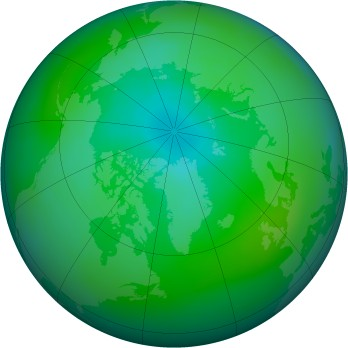 Arctic ozone map for 2014-08