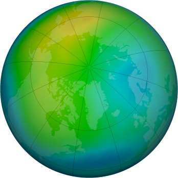 Arctic ozone map for 2014-11