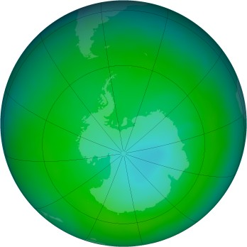 Antarctic ozone map for 2014-12