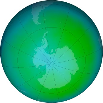 Antarctic ozone map for 2015-01