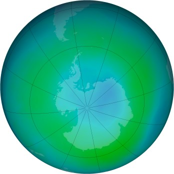 Antarctic ozone map for 2015-02