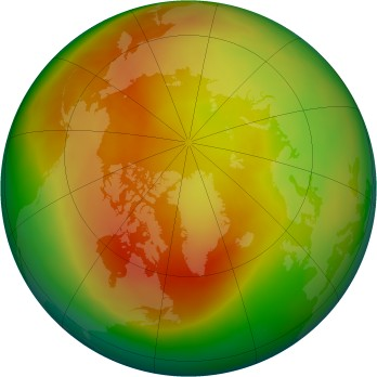 Arctic ozone map for 2015-03