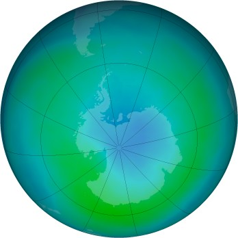 Antarctic ozone map for 2015-03