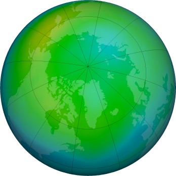 Arctic ozone map for 2015-11