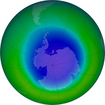 Antarctic ozone map for 2015-11