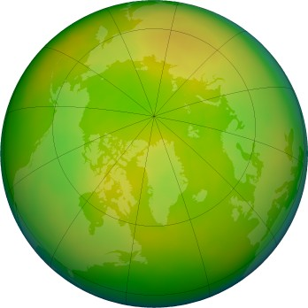 Arctic ozone map for 2016-05