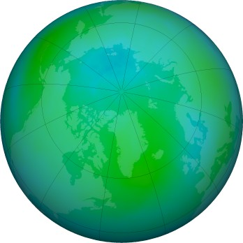 Arctic ozone map for 2016-09