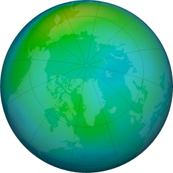 Arctic ozone map for 2016-10