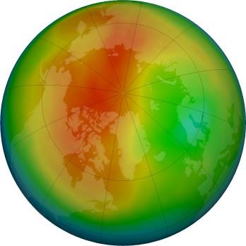 Arctic ozone map for 2017-02