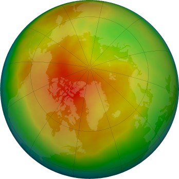 Arctic ozone map for 2017-03