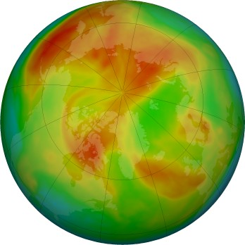 Arctic ozone map for 2017-04
