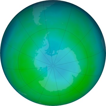 Antarctic ozone map for 2017-05