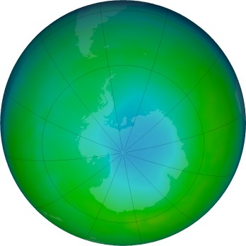 Antarctic ozone map for 2017-06