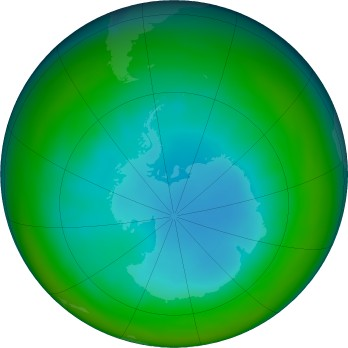 Antarctic ozone map for 2017-07