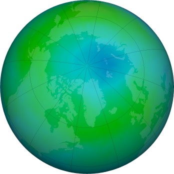 Arctic ozone map for 2017-09