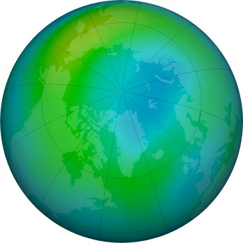 Arctic ozone map for 2017-10