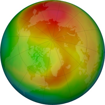 Arctic ozone map for 2018-02