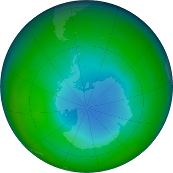 Antarctic ozone map for 2018-06