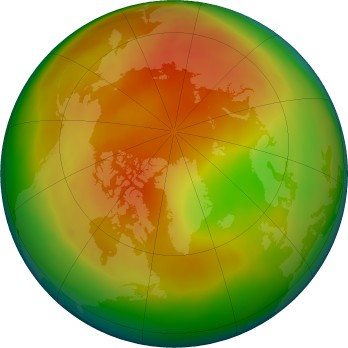 Arctic ozone map for 2019-04