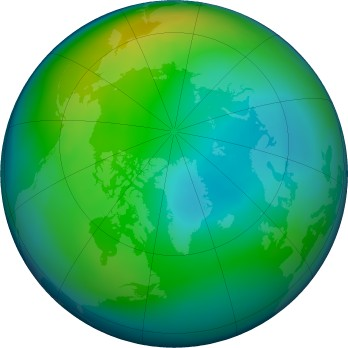 Arctic ozone map for 2019-11